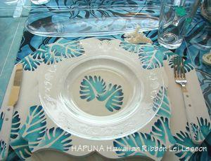 ブルーのテーブルセッティング